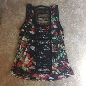 🌈 Women's Floral Silky Sexy Tank Top Size Medium